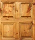 drewniane drzwi żółty Zdjęcia Royalty Free