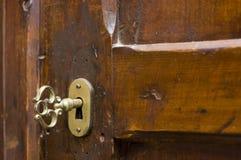 drewniane drzwi Zdjęcia Stock