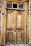 drewniane drzwi frontowe Zdjęcie Royalty Free
