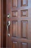 drewniane drzwi frontowe Fotografia Royalty Free