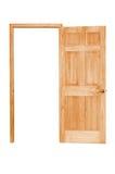 drewniane drzwi otwarty Zdjęcie Royalty Free