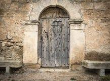 drewniane drzwi pradawnych, Obrazy Royalty Free