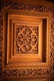 Drewniane drzwiowe Arabskie dekoracje Zdjęcia Royalty Free