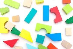 Drewniane edukacyjne zabawki Ekologiczne zabawki Fotografia Stock