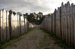 Drewniane fortyfikacje Fotografia Royalty Free