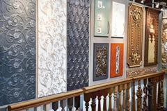 Drewniane i plastikowe fasady dla Obrazy Stock