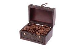 drewniane kawowe klatek piersiowych adra Fotografia Stock