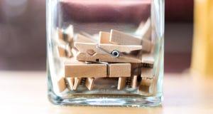Drewniane klamerki Zdjęcie Royalty Free