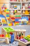 Drewniane kolor zabawki Obrazy Stock
