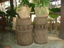 Drewniane kolumny dla dekoracji pokoje obrazy royalty free