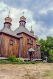 Drewniane kopuły Ortodoksalny kościół Obrazy Stock