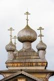 Drewniane kopuły tradycyjny drewniany stary kościół Obrazy Royalty Free