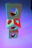drewniane kostki Fotografia Stock
