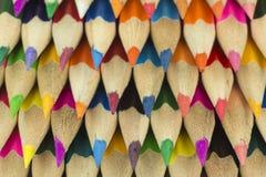 Drewniane kredki jako tło obrazek Obrazy Stock