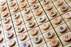 Drewniane liczby Fotografia Stock