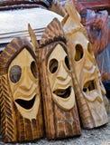 Drewniane maski Obrazy Stock