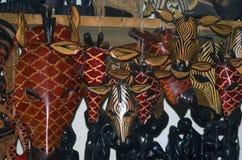 Drewniane maski, Kamienny miasteczko, Zanzibar, Tanzania Fotografia Royalty Free