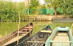 Drewniane łodzie. Obrazy Royalty Free