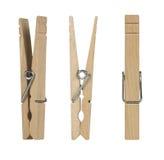 drewniane odzieżowe szpilki Obrazy Royalty Free