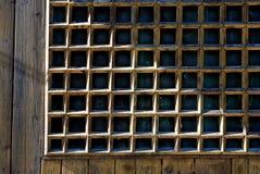 drewniane okna Zdjęcia Royalty Free