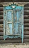 drewniane okna weathersa Zdjęcia Royalty Free