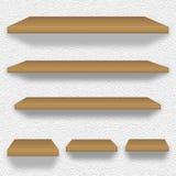 Drewniane półki Fotografia Stock