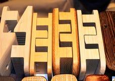 Drewniane podeszwy dla geta Obraz Royalty Free