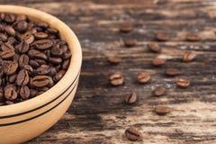 Drewniane pucharu i kawy adra Obraz Stock
