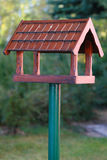 drewniane pudełko ptaka Zdjęcia Royalty Free