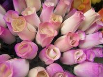 Drewniane róże fotografia royalty free