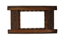 drewniane ramowy Obraz Stock
