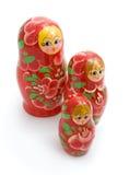 drewniane rodzinne zabawki Obrazy Stock