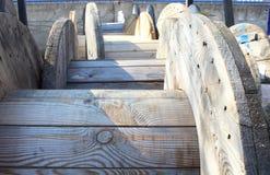 Drewniane rolki bez drutu Obraz Stock