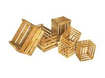 Drewniane skrzynki Obrazy Stock