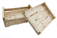Drewniane skrzynki Zdjęcia Stock
