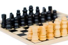 Drewniane szachy postacie Obraz Stock