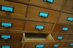 drewniane szufladę otwarte Obrazy Royalty Free