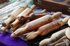 Drewniane toczne szpilki zdjęcie stock