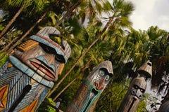 drewniane totemy Zdjęcia Royalty Free