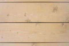 Drewniane unpainted horyzontalne deski Zdjęcie Stock