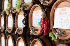 Drewniane wino baryłki Obrazy Stock