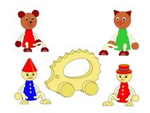 Drewniane zabawki Obrazy Stock