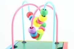 Drewniane zabawki, rozwija gra dla dzieciaków Zdjęcia Royalty Free