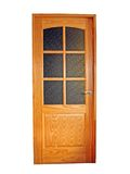 drewnianego 2 drzwi Fotografia Stock