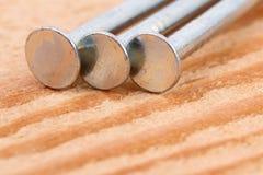 drewnianego 2 gwoździa Zdjęcia Stock