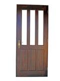 drewnianego 3 drzwi Obrazy Royalty Free
