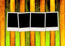drewnianego backgrou polaroidu pusty kolorowy cztery ilustracji