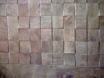 Drewnianego bloku koniec na prętowej pierzei obrazy stock