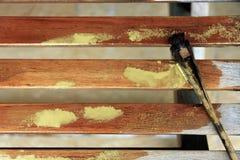 Drewnianego bloku muśnięcie Zdjęcie Royalty Free