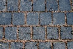 Drewnianego bloku podłoga Obrazy Stock